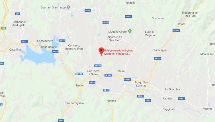 Falegnameria Margheri Filippo - Scarperia - mappa